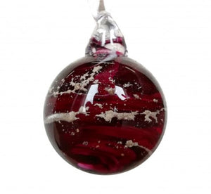 Cremation Memorial 'Meminisse' Orb - Ruby Red