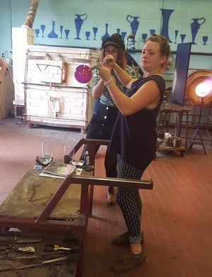 Glassmaking experience at Bristol Blue Glass - 2 hour course voucher - customer
