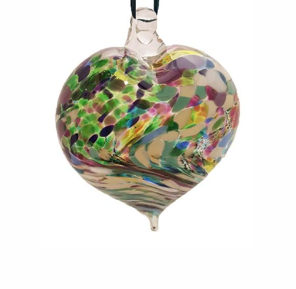 Harlequin Heart Glass Bauble