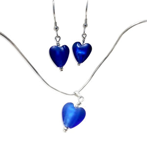 """Kittle Selkie"" Blue Heart Jewellery Set"