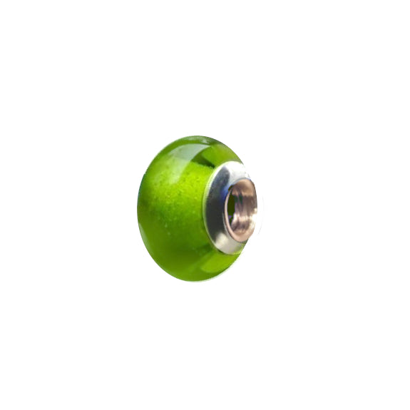 Lime Green Glass Charm Bead