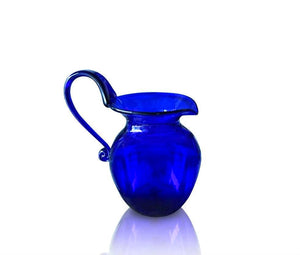 Medium Round Blue Glass Jug