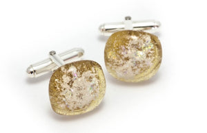 Memorial Glass Cufflinks - Amber