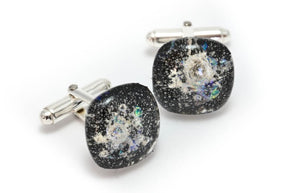 Memorial Glass Cufflinks - Black