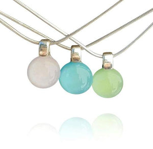 Dichroic Spring Pastel Dainty Pendant Necklaces