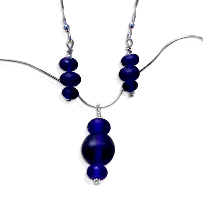 """Pebble Stack"" Blue Jewellery Set"