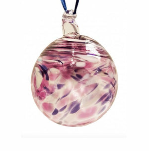 Purple Swirl Glass Bauble
