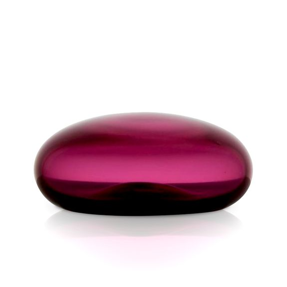 Ruby Glass Flat Paperweight