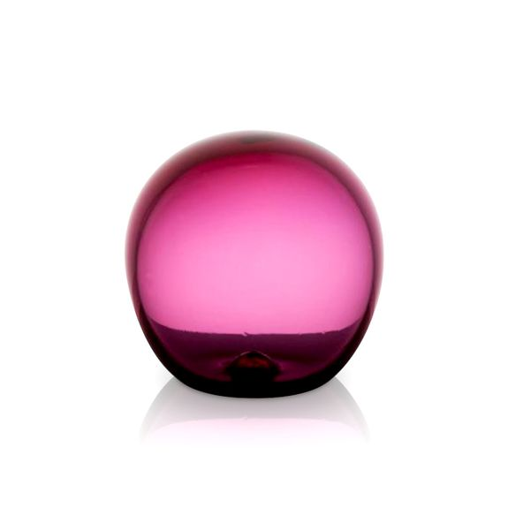 Ruby Glass Round Paperweight