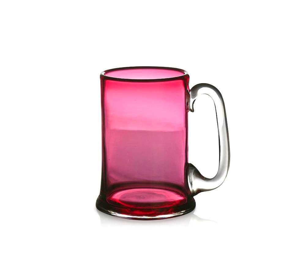 Ruby Red Glass Straight-Sided Tankard