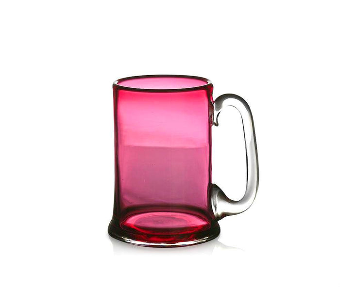 Ruby Glass Straight-Sided Tankard