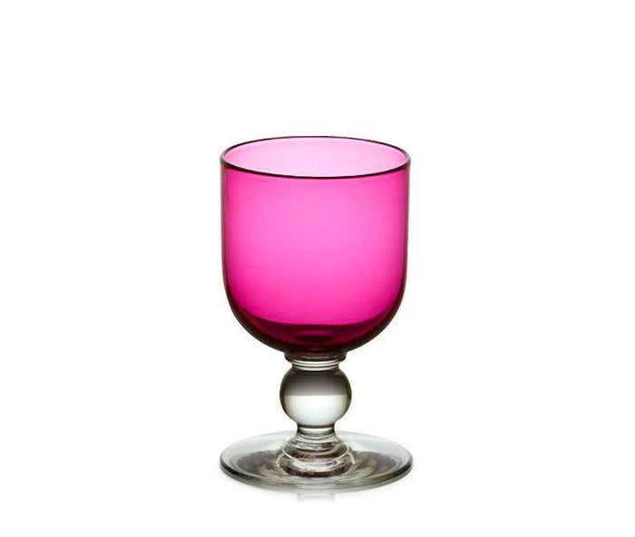 Ruby Red Glass Wine Goblet