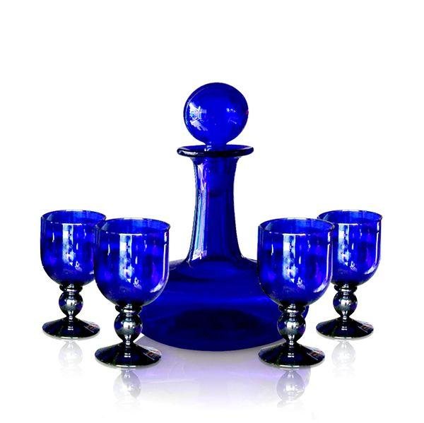 Ships Decanter & Goblet Set