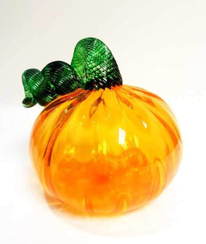Small glass pumpkin made by Original Bristol Blue Glass