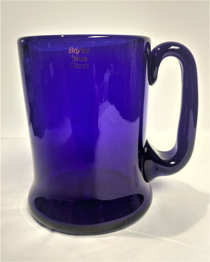 Slight Second Blue Glass Straight-Sided Tankard