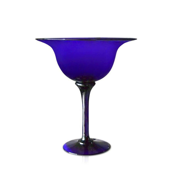 Tall Blue Glass Centre Bowl