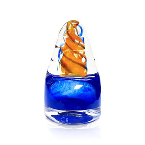 """Eternal Flame"" Blue Glass Sculpture"