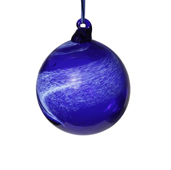 Winter Wonderland Blue Glass Bauble