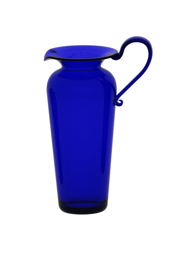 Medium Tall Blue Glass Jug