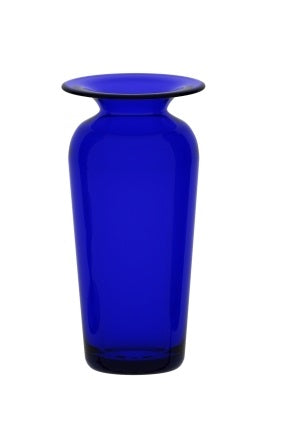 Small Tall Blue Glass Vase