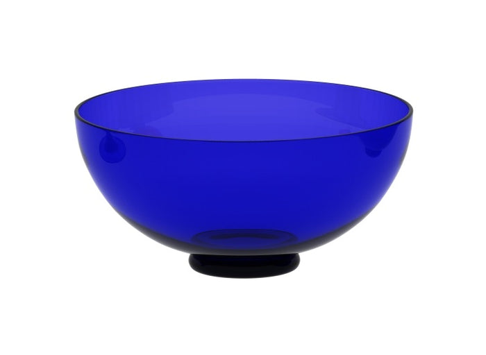 Medium Blue Glass Bowl