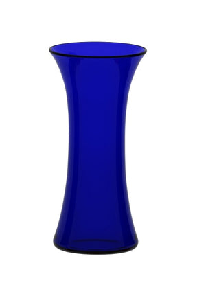 Medium Blue Glass Lily Vase