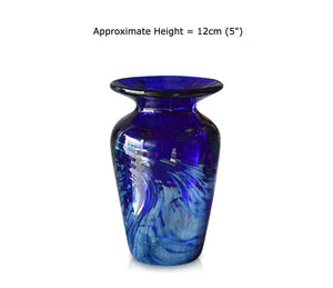 "Small Tall ""Aurora"" Blue Glass Vase"