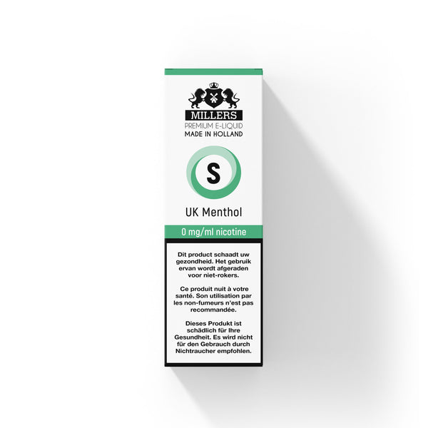 Millers Silver line UK Menthol 10ML