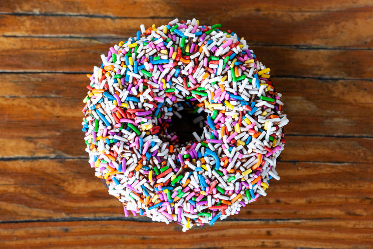 Vegan Gluten Friendly Chocolate Sprinkled Ring