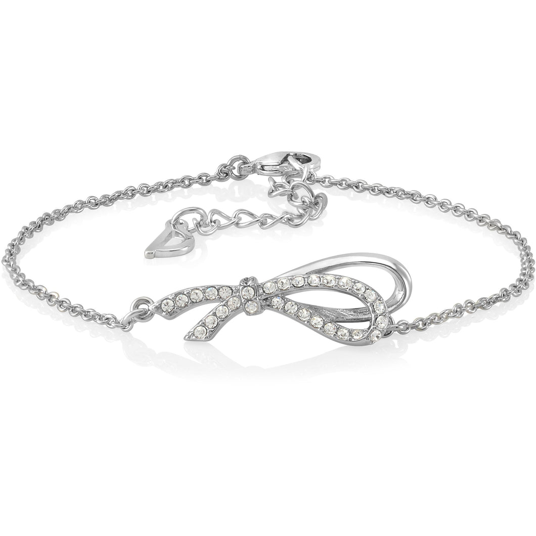 Infinity Bow Bracelet. Made with Swarovski crystals designed by Nic and Syd Jewelry