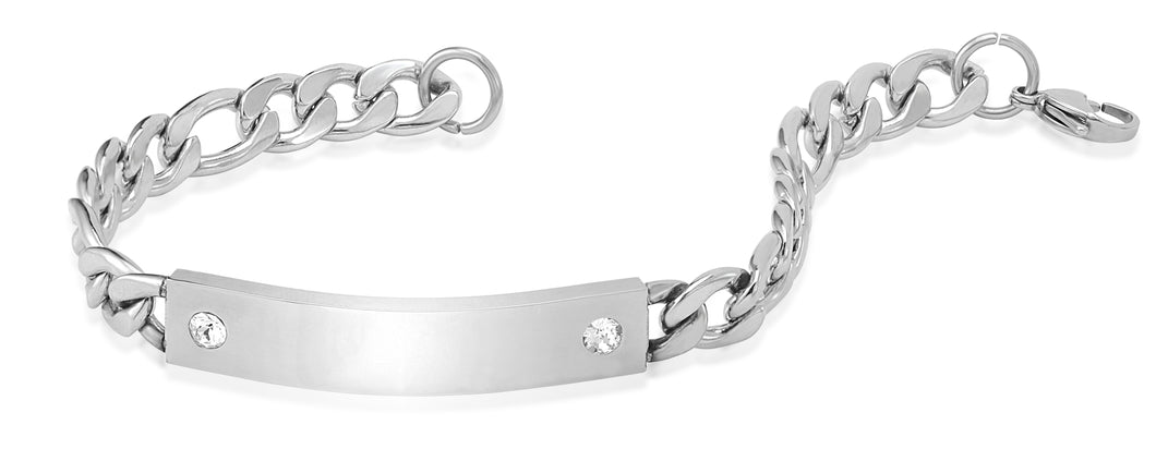 Men's Crystal Clear Identity Bracelet