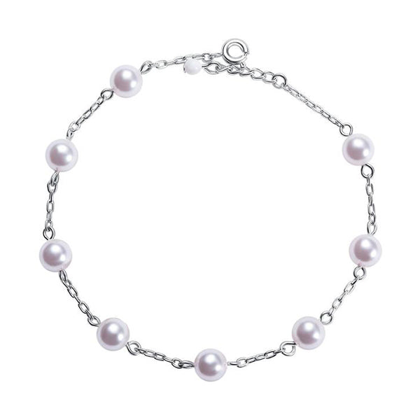 Pearl Bracelet made with Swarovski crystal pearls designed by Nic and Syd Jewelry