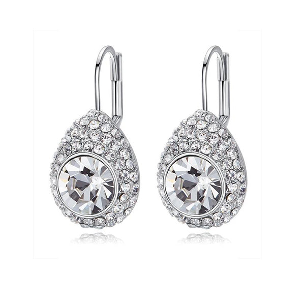 Crystal Raindrop Earrings. Made with Swarovski crystals designed by Nic and Syd Jewelry