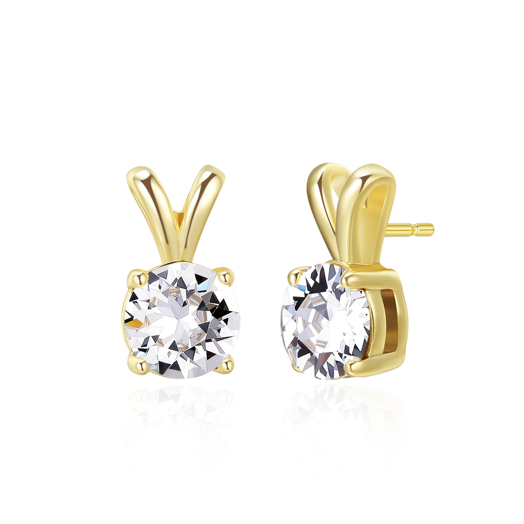 Ribbon Solitaire Earrings