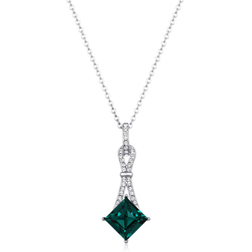 North Star Pendant in Emerald Green