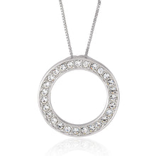 Classic Circle Pendant. Necklace made with Swarovski crystals designed by Nic and Syd Jewelry