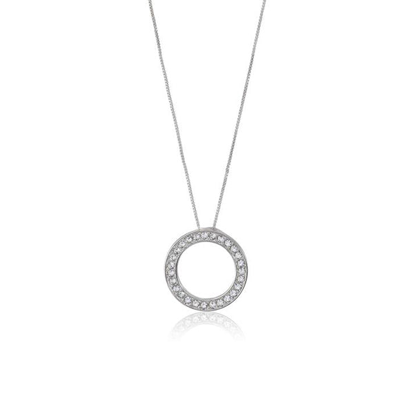 ... Classic Circle Pendant. Necklace made with Swarovski crystals designed  by Nic and Syd Jewelry ... baa65de6e