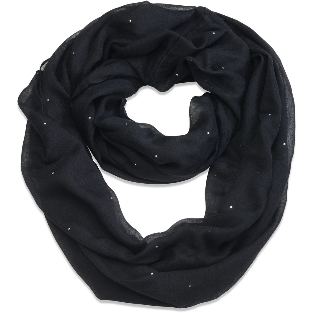 Night Sky Scarf made with Swarovski crystals designed by Nic and Syd Jewelry