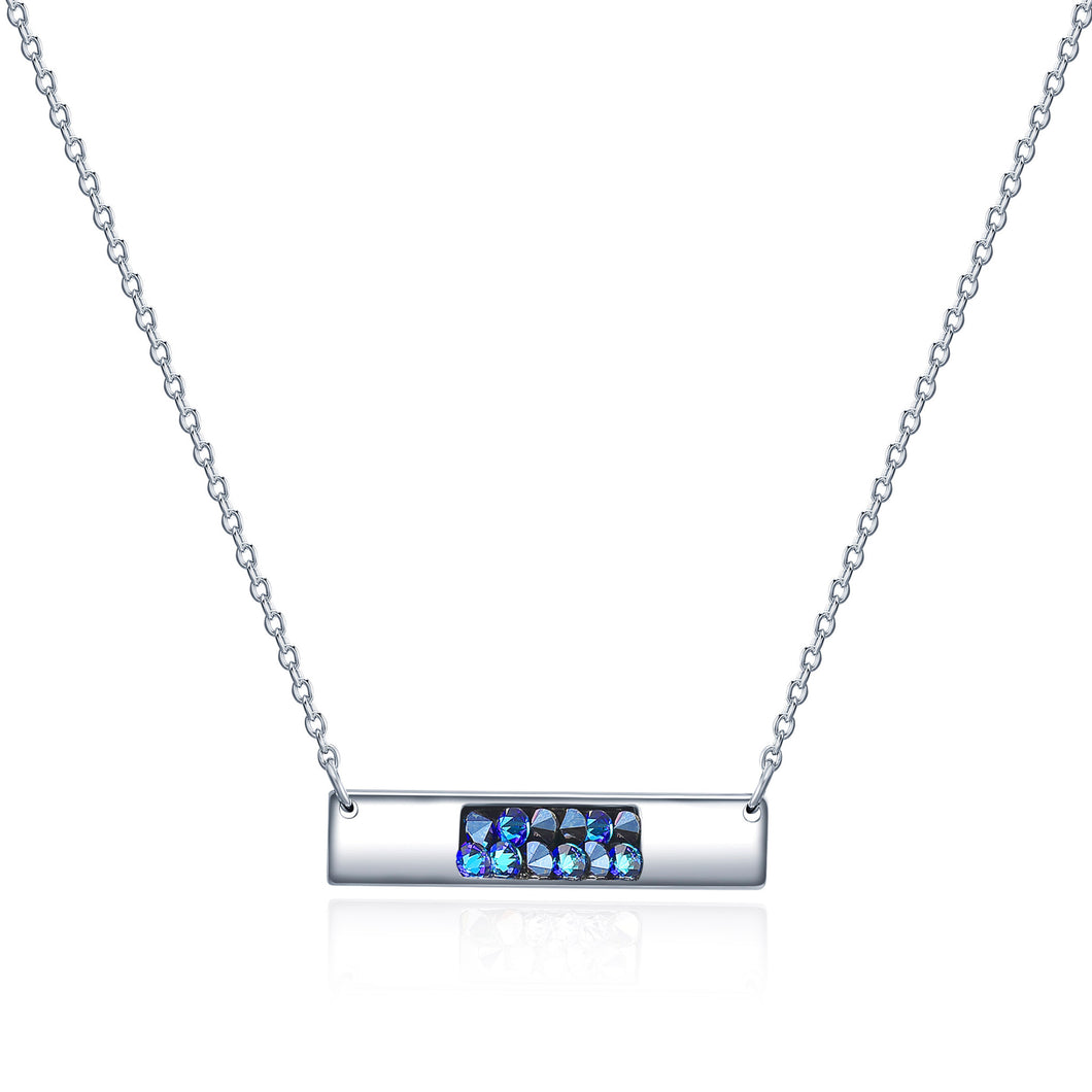 Crystal Rock Bar Pendant