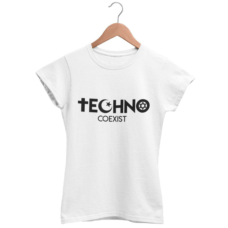 Klassisches Fit T-Shirt Techno Coexist