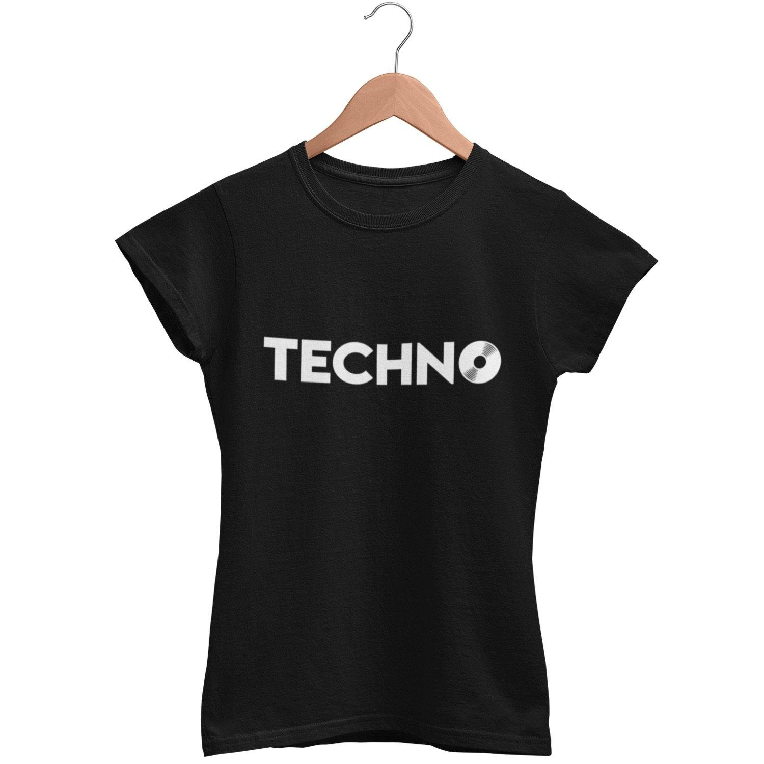 Klassisches Fit T-Shirt Techno Vinyl
