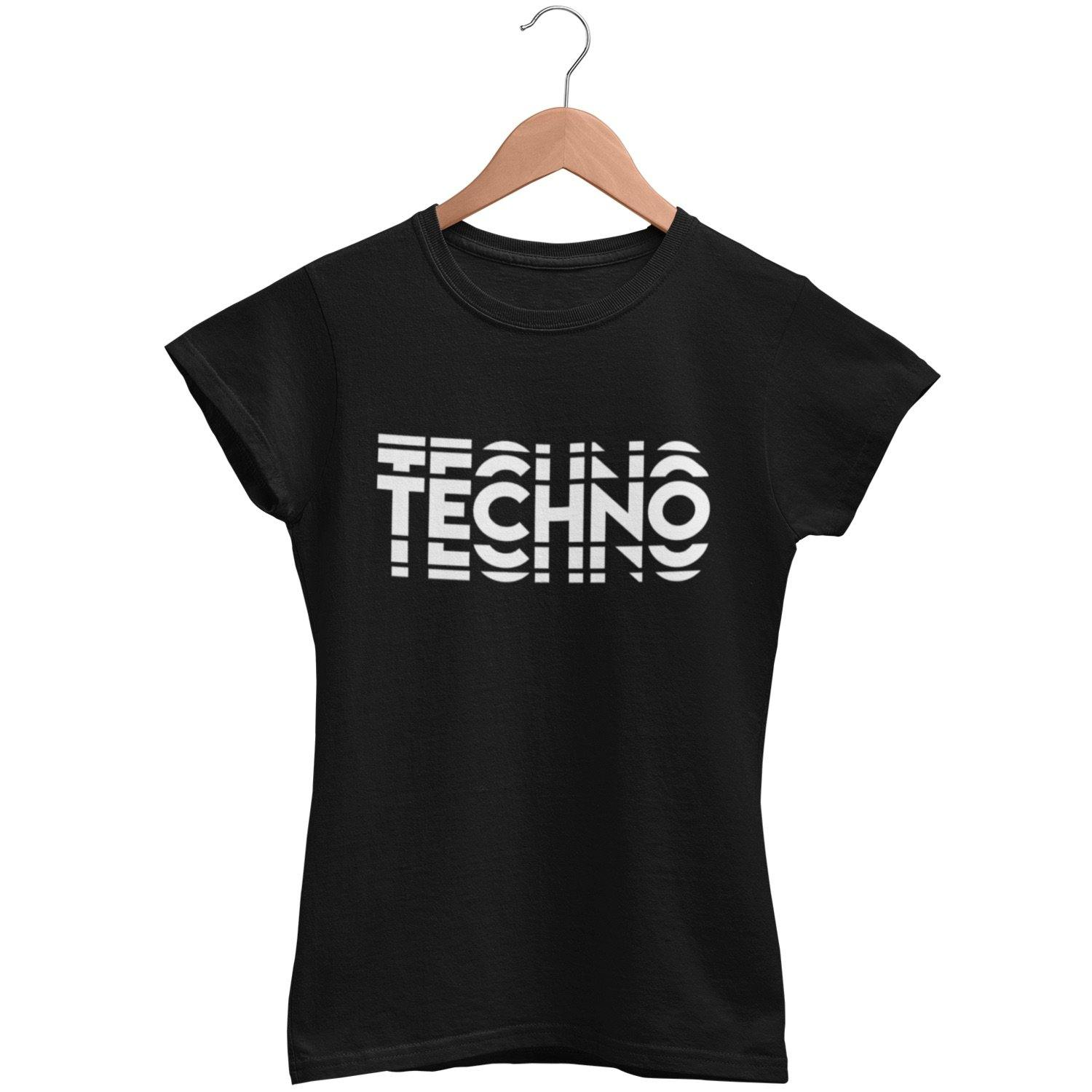 Klassisches Fit T-Shirt Techno Visual Effect  2