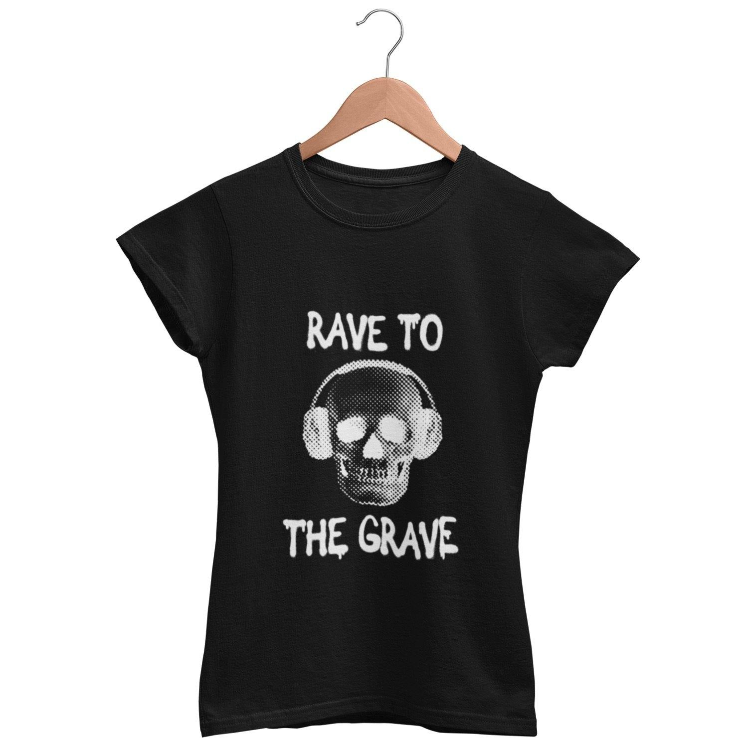 Classic Fit T-Shirt Rave To The Grave | Techno Outfit