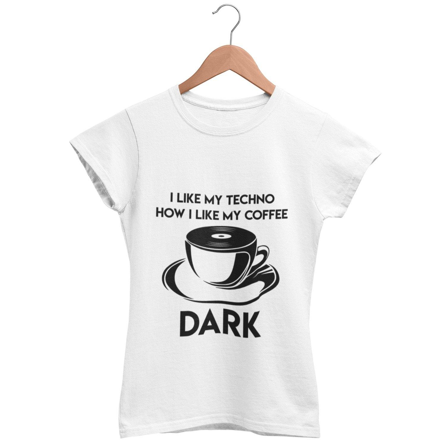 Camiseta de corte clásico Techno Coffee