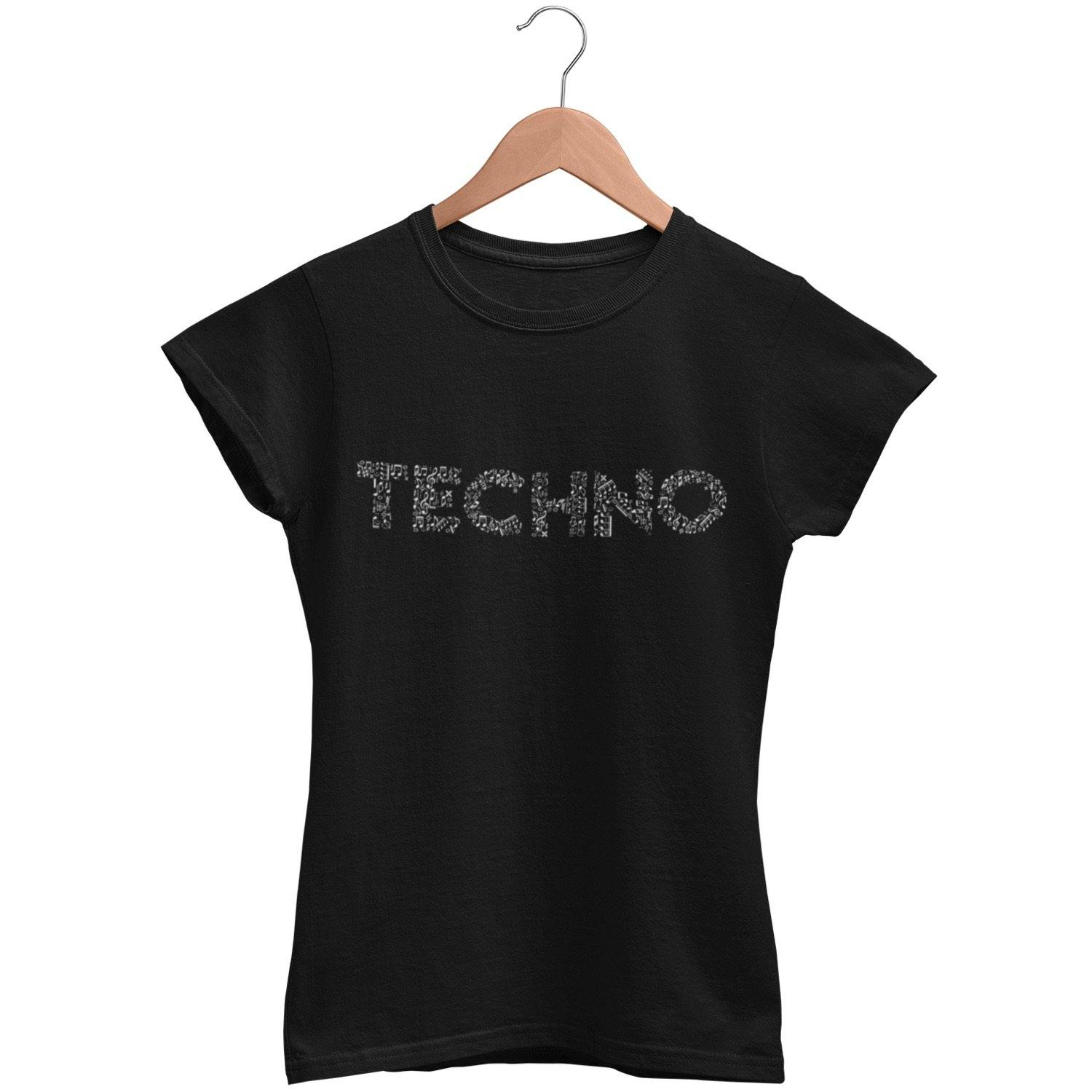 Classic Fit T-Shirt Techno Musiknoten