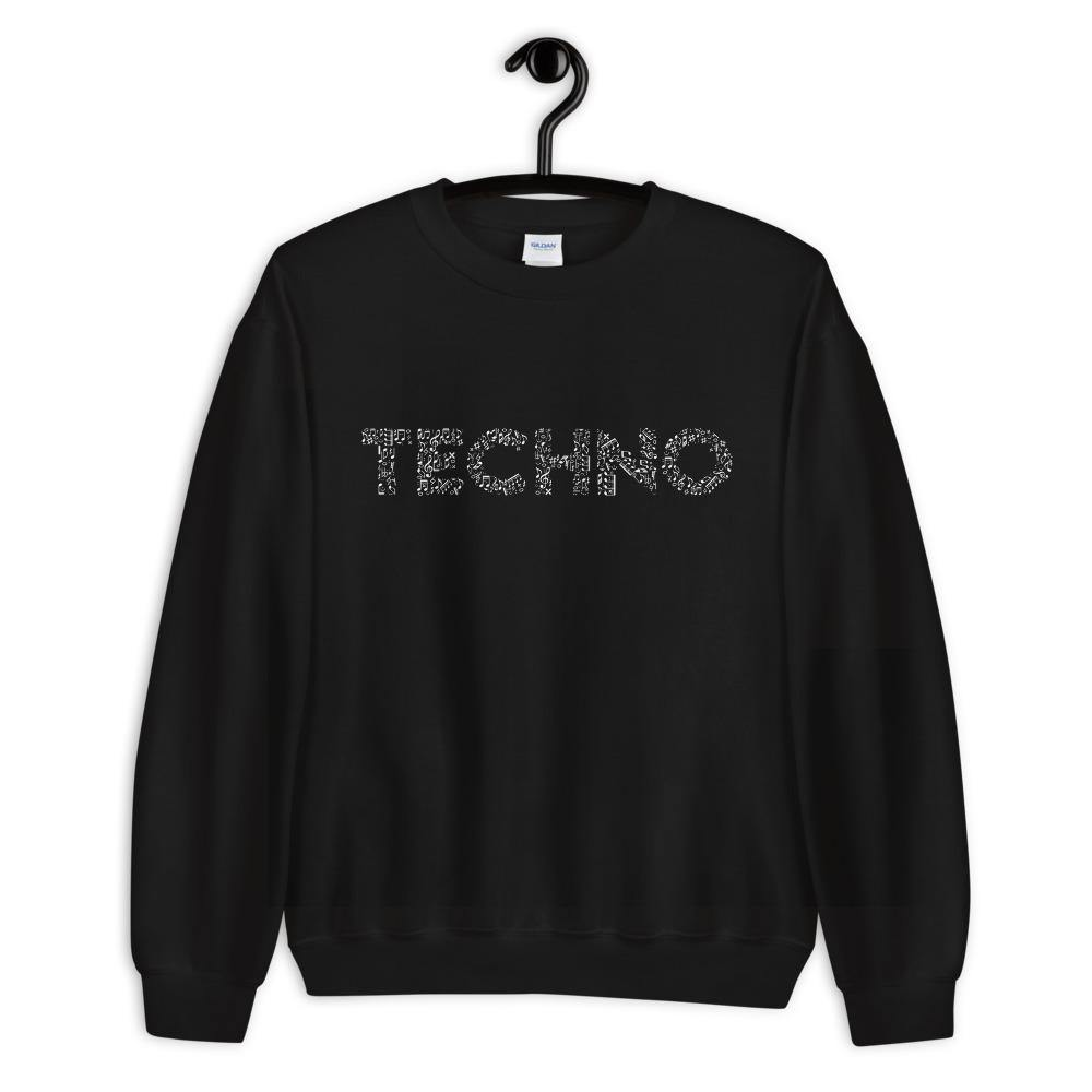 Techno Music Notes Sweatshirt | Techno Outfit