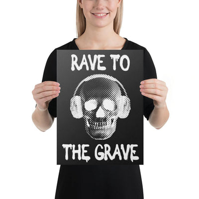 Rave To The Grave Leinwand | Techno Outfit