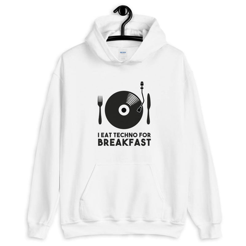 I Eat Techno For Breakfast Sudadera con capucha | Techno Outfit