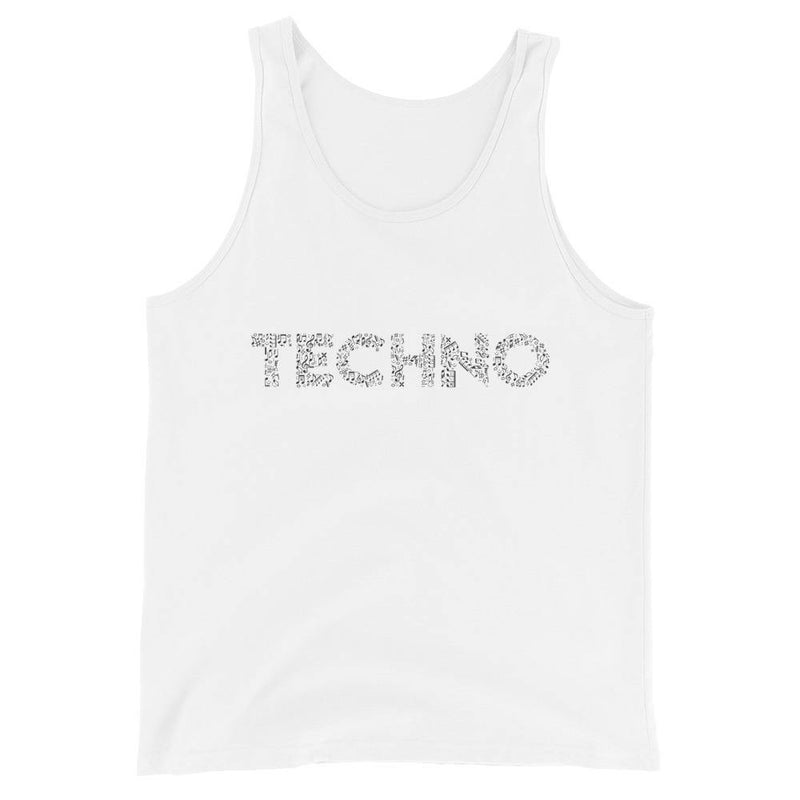 Camiseta de tirantes premium unisex Techno Music Notes | Techno Outfit