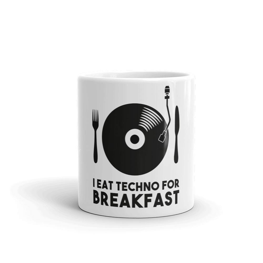 I Eat Techno For Breakfast Mug | Techno Outfit
